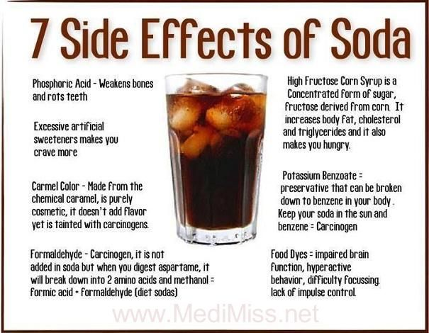 7 Side Effects of Soda-I need to keep all of this in mind so that I don't get back into the bad habit of reaching for a Coke or Pepsi