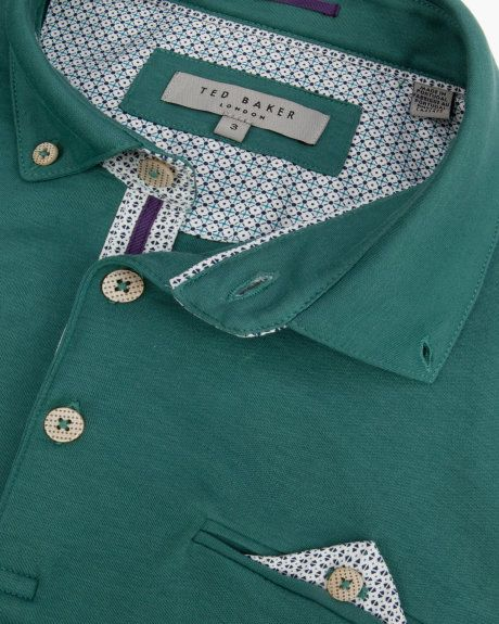 Jersey polo shirt - Sage | Tops & T-shirts | Ted Baker UK