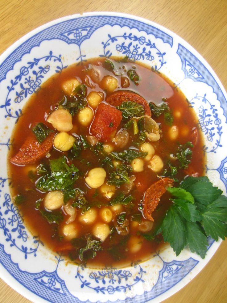 Spanish Chorizo and Chickpea Soup