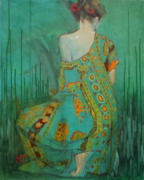 Ekaterina Goncharova - In Anticipation of Summer: Color, Green, Art, Ekaterinagoncharova, Summer, Anticipation, Painting