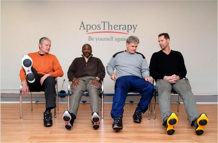 AposTherapy's specially designed shoes and multi-point therapy help former professional athletes and others retrain muscles, relieve pain.