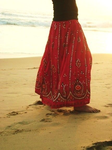 Maxi Skirt  South Indian Peacock Print  PINK   by southindiabazaar, $36.00
