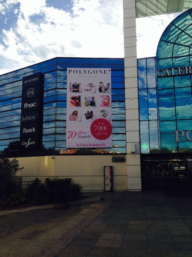 Le #Polygone_Montpellier lance son opération chéquier du 285 août au 30 septembre. Bon #Shopping à tous !