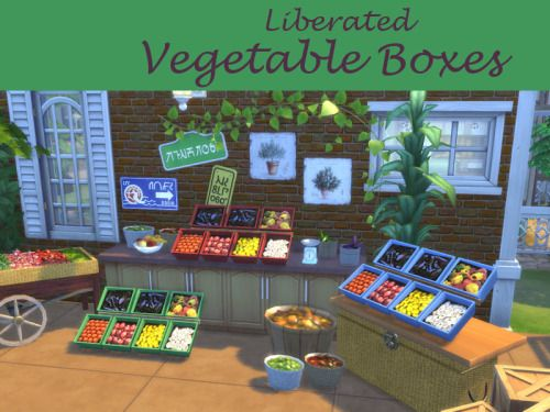 Best Liberated Vegetable Boxesrequested by Simdoughnut DOWNLOAD at dropbox Boxes can be placed on every surface