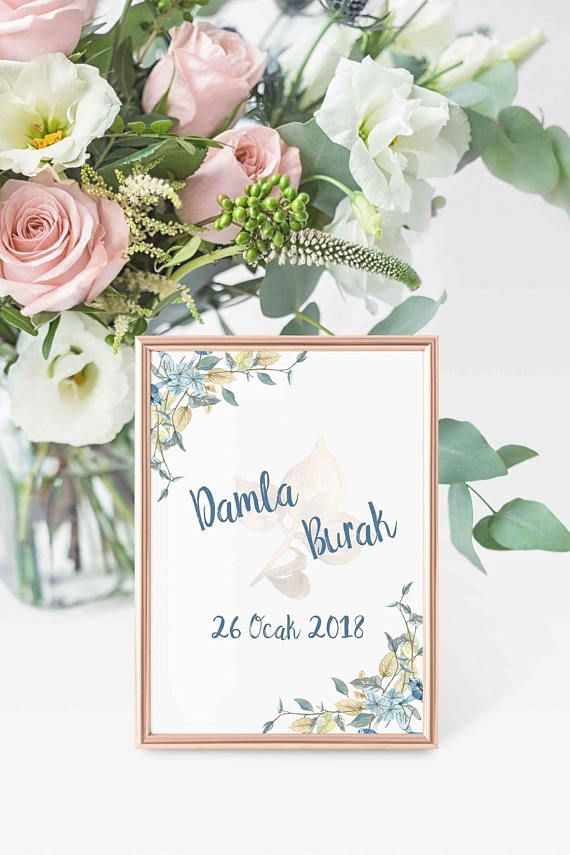 Fl Wedding Invitation Set Card Welcome Banner Photo Booth Frame Stickers Table Number Name For Ca