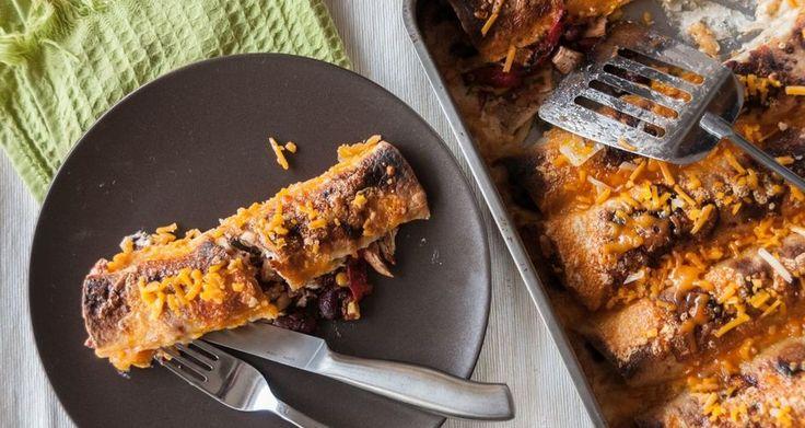 Μεξικάνικες τορτίγιες με κοτόπουλο