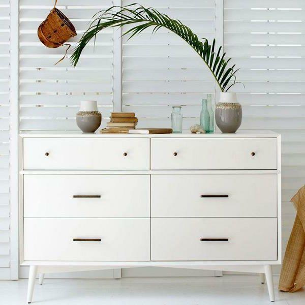 moderne kommoden schöne weiße kommode pflanze