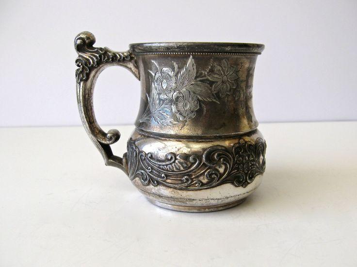 Antique Baby Cup 1893 Child S Cup Victorian Quadruple