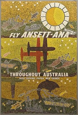 Ansett ANA Poster...repinned  by  Maurie Daboux ✄❤