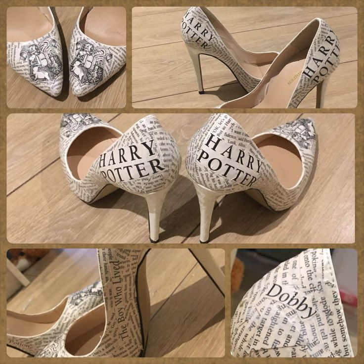Harry potter decoupage shoes/wedding shoes