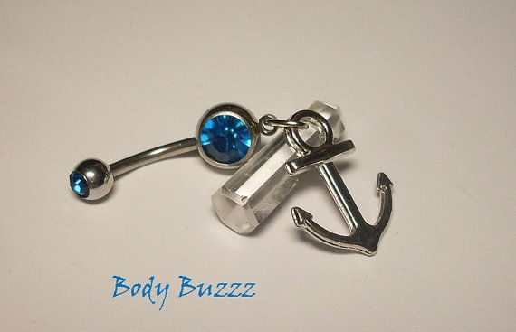 Nautical Anchor belly piercing. Anchor charm with by BodyBuzzz