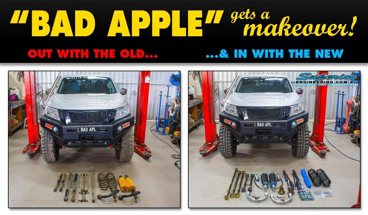 BAD APPLE Gets A Makeover!  Superior Engineering stripped out the old suspension in this Beast of NP300 Nissan Navara and fitted it out with a Beefy Superior lift kit.  Stay tuned for some offroad video action, drone footage and flexing photos.  This kit features the following heavy duty suspension components:  • Superior Front Upper Control Arms (UCA's) • Superior H/D Adjustable Panhard Rod (Lifetime Warranty against Bending) • Superior Rear Adjustable Upper Control Arms (Lifetime Warranty…