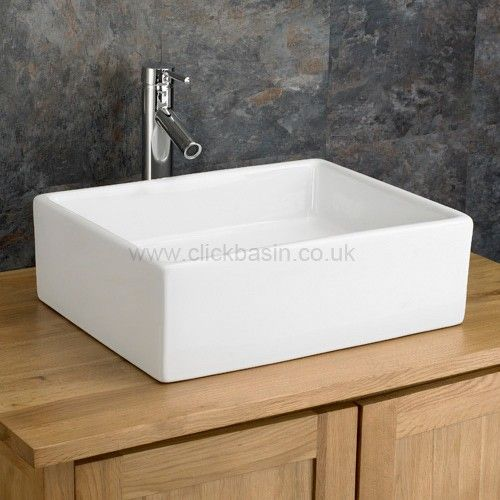 Modern 46.5cm X 37cm Rectangular Catanzaro Counter Top Basin