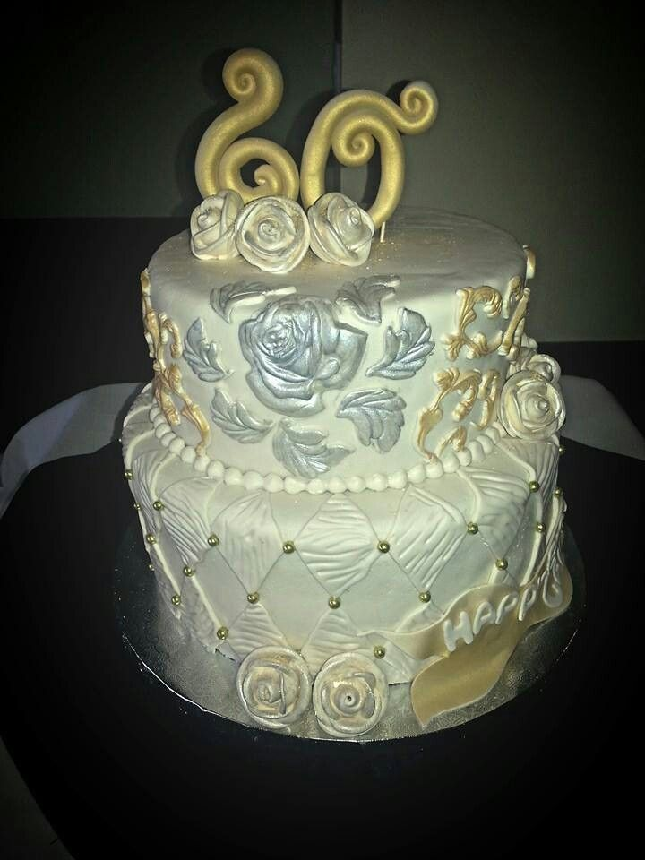 60 th Anniversary cake www.facebook.com/carinaedolce