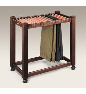 Rolling Pant Trolley with Cedar Hangers Image