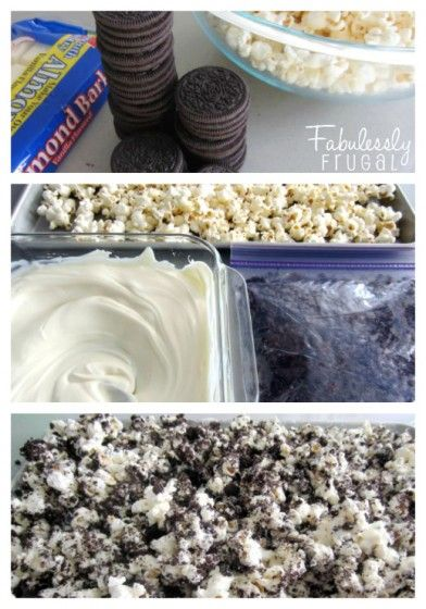 3 ingredients oreo popcorn
