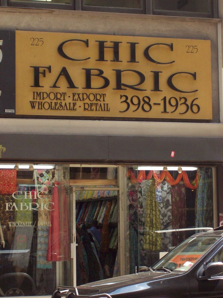 Shop the Garment District: NYC Fabric Store Review: Chic Fabrics