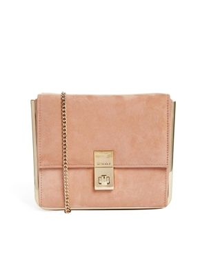Dune+Blaze+Nude+Clutch+Bag+in+Faux+Suede