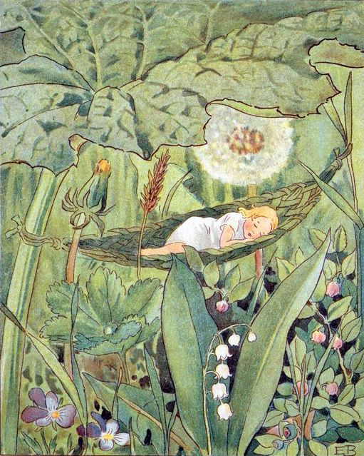 ⊰ Posing with Posies ⊱ paintings & illustrations of women & children with flowers - Elsa Beskow