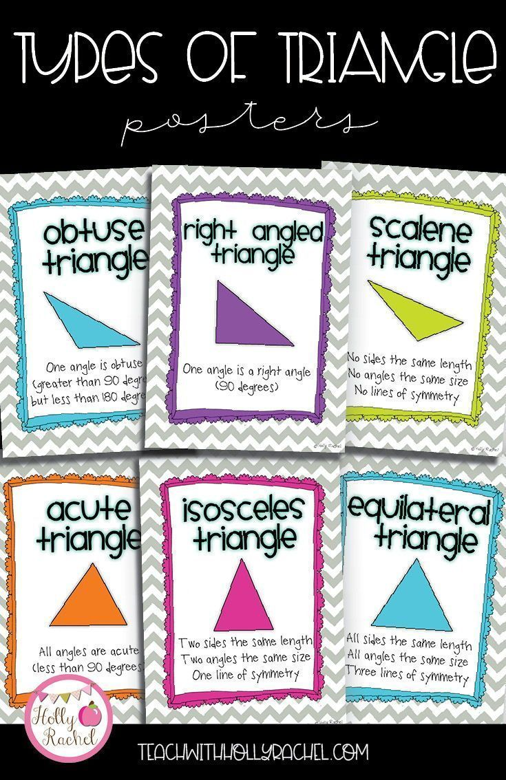 Types Of Triangle Posters Geometry Worksheets Classification Of Triangles Triangle