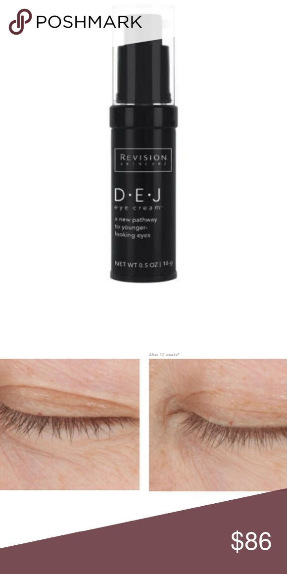 Revision Skincare D·E·J Eye Cream 0.5oz BRAND NEW Revision Skincare D·E·J Eye Cream is a powerful moisturizing treatment that helps to intensely nourish the skin around the eye, minimizing signs of aging. Made with peptides, goji fruit extract and vitamin C, this soothing cream works to improve the appearance of fine lines, repair photodamage and boost collagen and elasticity for a firmer, more energized appearance. Powerful antioxidants help to strengthen skin and protect it against future…