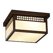 Glasgow Flush Mount Ceiling Light In Bronze Finish.
