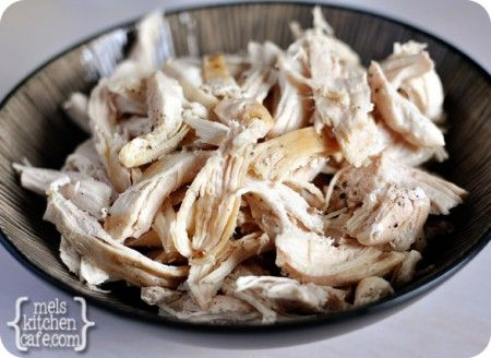 Easy Shredded Chicken - It's ready in 15 - 20 minutes - I love having this in mind for when I need shredded chicken fast - it always works great!