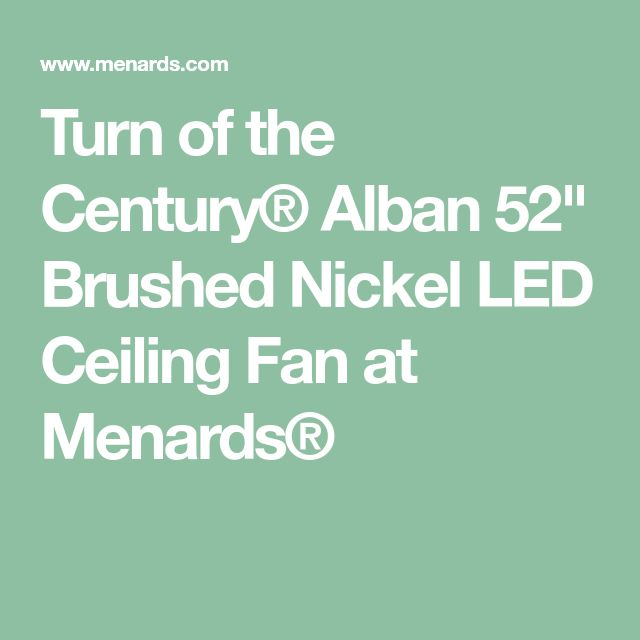 Turn Of The Century 174 Alban 52 Quot Brushed Nickel Led Ceiling