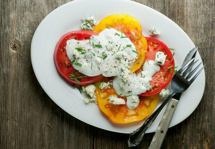 Tomato Blue Cheese Salad - hurray for tomato season!!