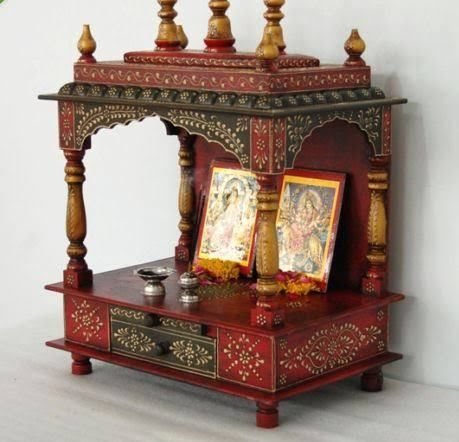 Handpainted Wooden Pooja Room Designs Part 58