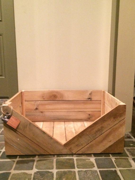 Primitive Dog Bed Rustic Dog Bed Reclaimed Wooden by RusticKnacks
