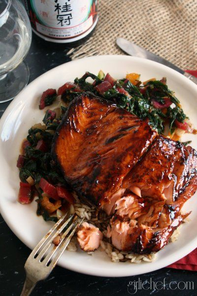 For those that don't like salmon. Try this honey Terriyaki version.