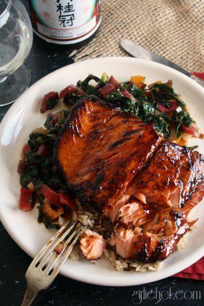 Salmon-Honey Teriyaki