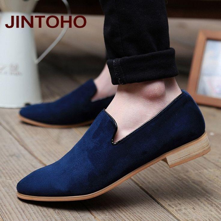JINTOHO fashion slip on men velvet loafers,Spring and Autumn men leather shoes, suede loafers mocassin men flats  Berry10.com