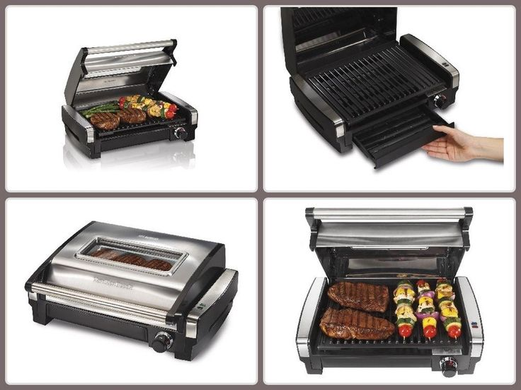 Electric BBQ Grill W/ Viewing Window Hamilton Beach In/ Outdoor Patio Portable ##bbq #grill #grilling