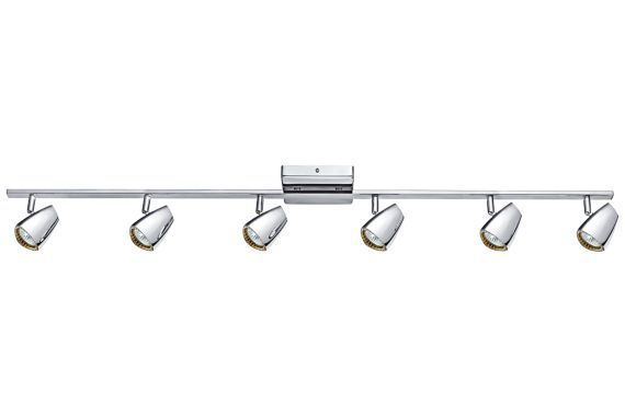 Eglo Corbera Industrial Polished Chrome 6-Light Track Kit - #EU8R018 - Euro…