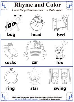 12 best Rhyming Worksheets images on Pinterest | Rhyming words ...