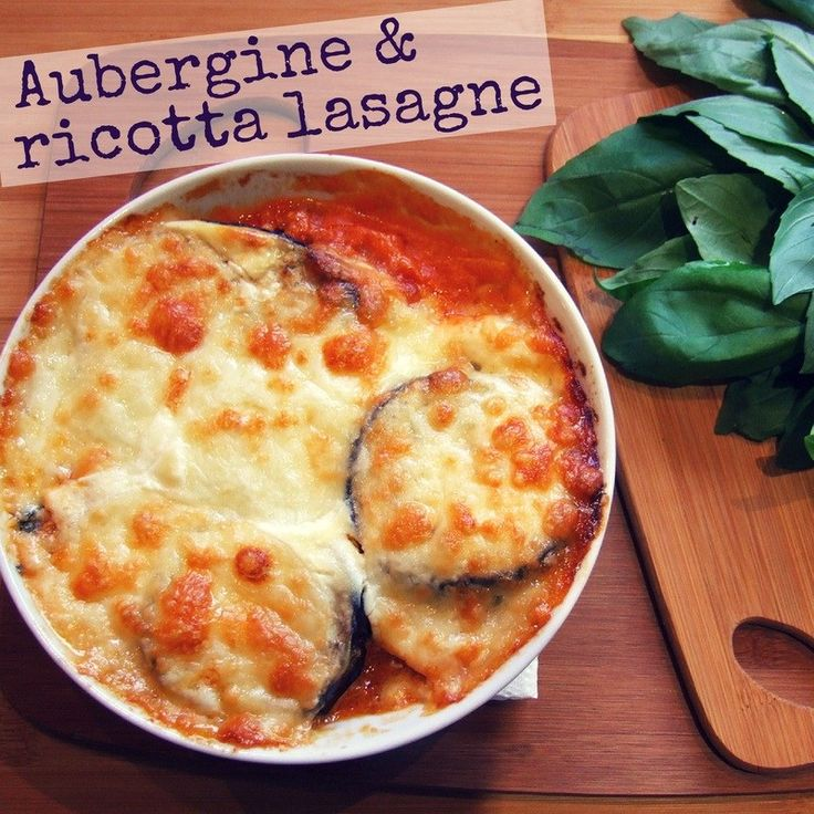 Auberginen- und Ricotta-Lasagne