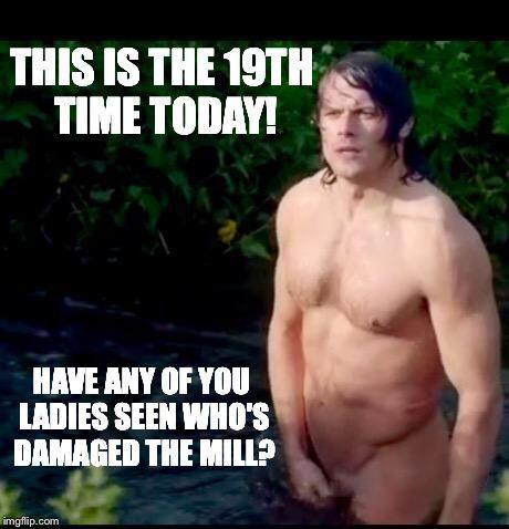 Naked Jamie Fraser meme Outlander |