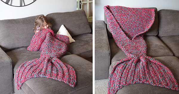 Melanie Campbellz Michiganu predáva naEtsy deky v podobe chvostu morskej panny.Kreatívne háčkované deky morské víly, handmade, nápad nie len pre deti