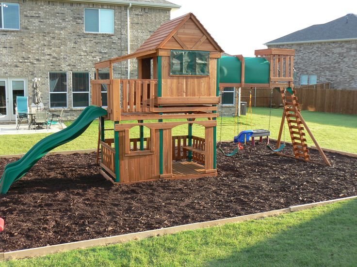 Step By Step How To Border A Playground Area Backyard