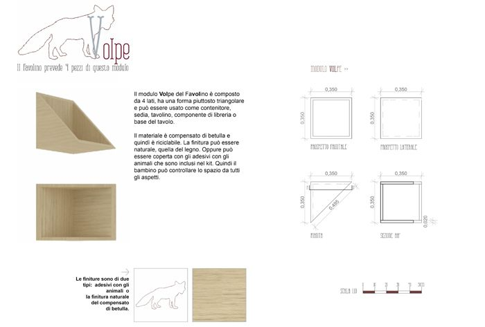 The Fox unit can be used as a container or a chair, as a little table, a library component or a base of the table.