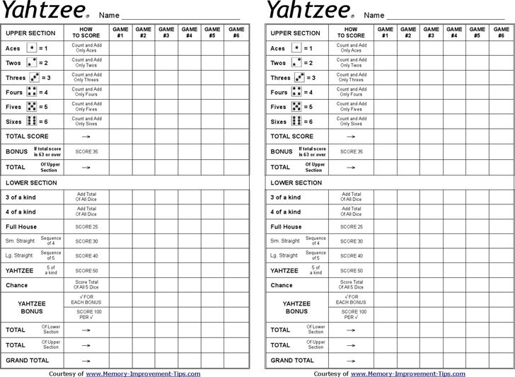image relating to Yahtzee Printable identify Printable triple yahtzee rating sheets pdf