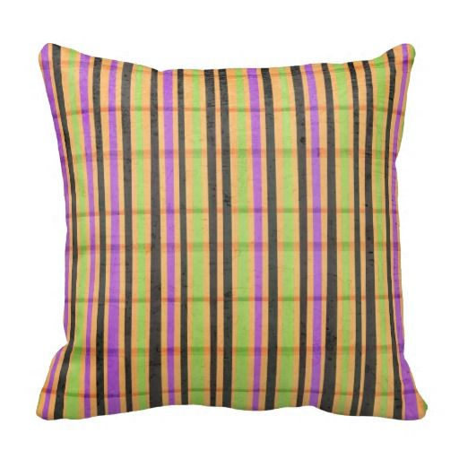 Multi Colored Striped Pillow