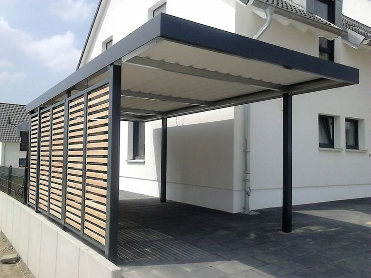 carport mit wandelementen wpc lattung carport einhausungen eingangs berdachung. Black Bedroom Furniture Sets. Home Design Ideas