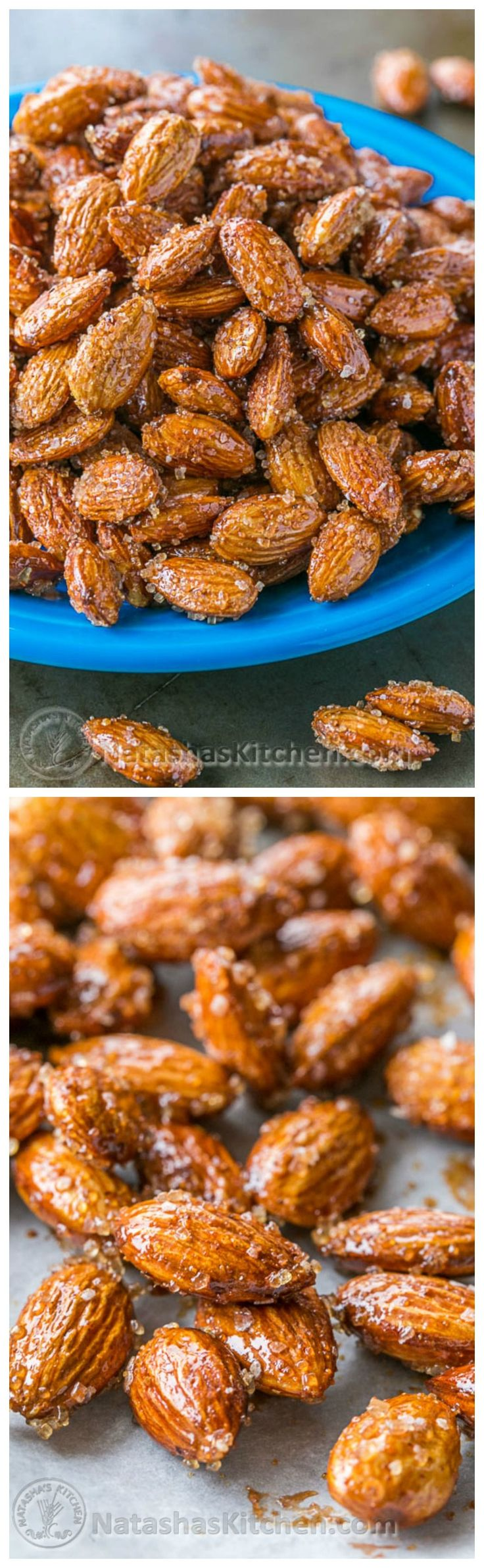 These Honey Roasted Almonds are so easy and a staple treat in our house! Highly recommended!!! @natashaskitchen