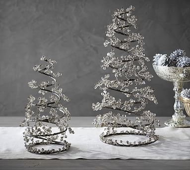 Faceted Mirror Spiral Tree #potterybarn
