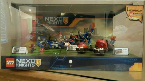 Lego nexo knights store display 70312 70314 70315. No lights