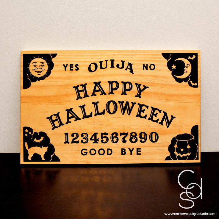 Ouija Collection: Happy Halloween Wood Sign
