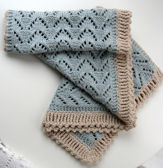 lace scarf with crochet border crochet